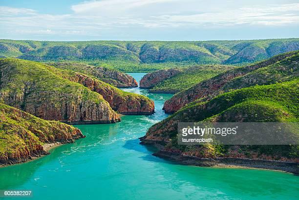 horizontal falls, kimberley, australia - austrália ocidental - fotografias e filmes do acervo