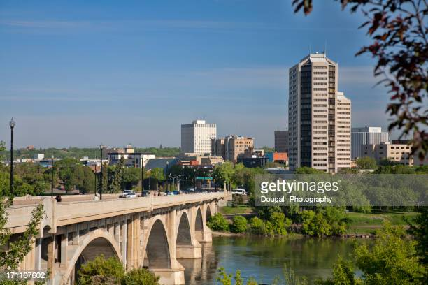 Horizontal Image of Downtown Saskatoon with Broadway Bridge in Foreground