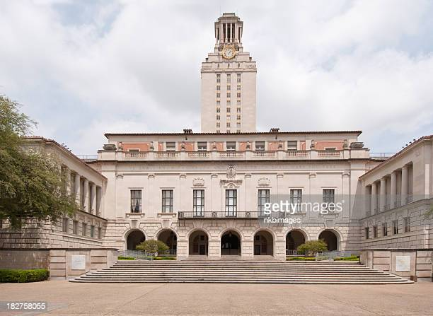 horizontal image university of texas at austin clock tower - clock tower stock pictures, royalty-free photos & images