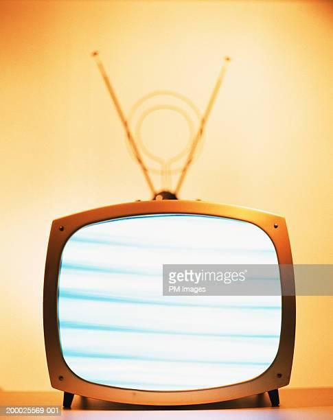 Horizontal lines on television set