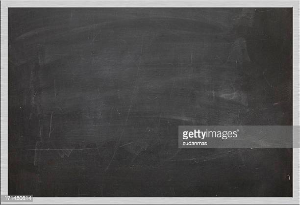 Horizontal silver framed blackboard. Space for text and image copy
