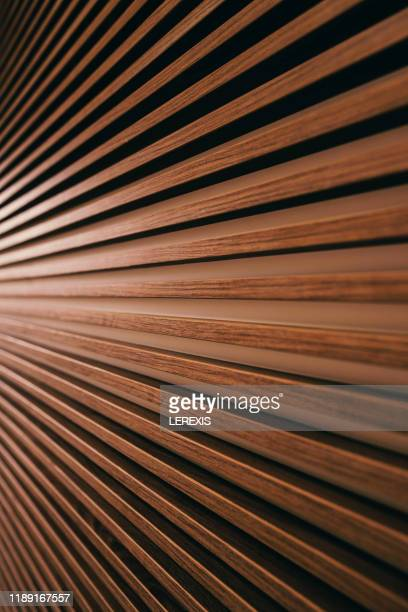 horizontal slats mounted on a wall - brown university stock pictures, royalty-free photos & images