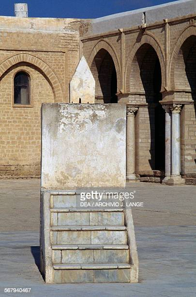 Horizontal sundial Mosque of 'Uqba or Great Mosque of Kairouan before the restoration Kairouan Governorate Tunisia 19th century