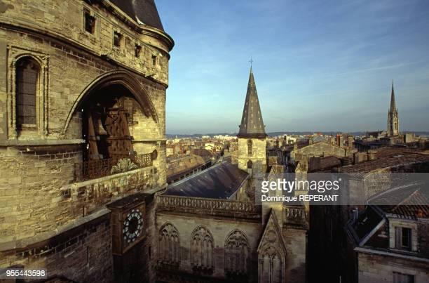 L'horloge astronomique du beffroi de la Grosse cloche de Bordeaux France