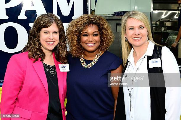 Hormel Foods Product Manager Jen Nolander Sunny Anderson and Marketing Director Grocery Products Division at Hormel Foods Nicole Behne attend the...