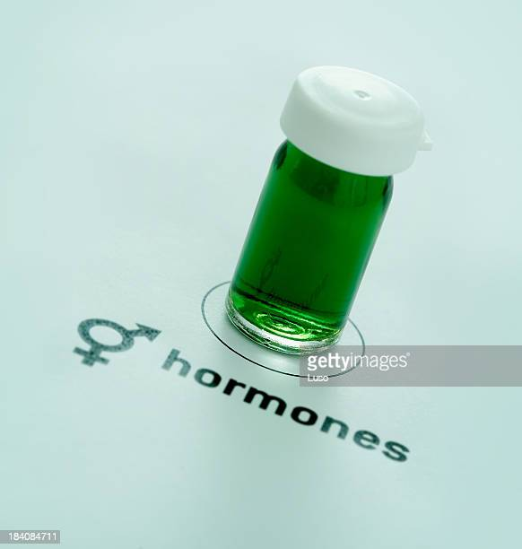 hormones - oestrogen stock pictures, royalty-free photos & images