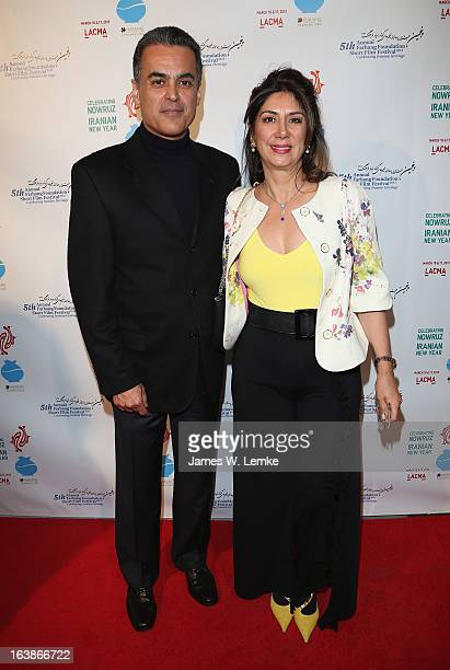 Hormoz and Fariba Ameri attend the 2013 Farhang Foundation Short Film Festival held at the Bing Theatre at LACMA on March 16 2013 in Los Angeles...