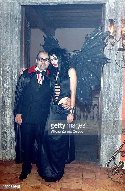 Hormoz Vasfi and Yvonne Scio attend 'Bloody Halloween Party' at La Posta Vecchia on October 31 2012 in Ladispoli Italy