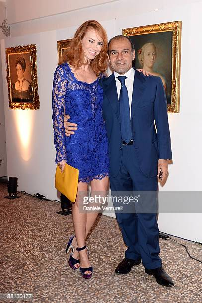 Hormoz Vasfi and Yvonne Scio attend the Gala Dinner for 'La Migliore Offerta' during The 8th Rome Film Festival on November 15 2013 in Rome Italy