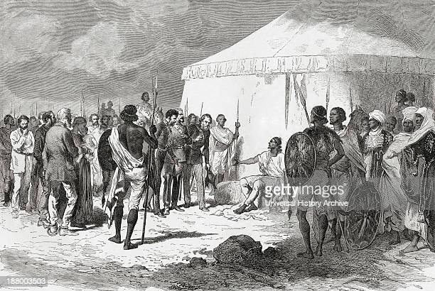 Hormuzd Rassam Being Received By Tewodros Ii In Abyssinia In 1868 Hormuzd Rassam 1826 To 1910 Native Assyrian Assyriologist British Diplomat And...