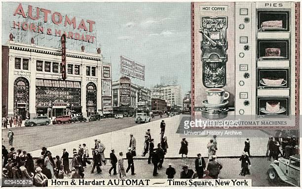 Horn and Hardart Automat Times Square New York City USA Postcard circa 1930's
