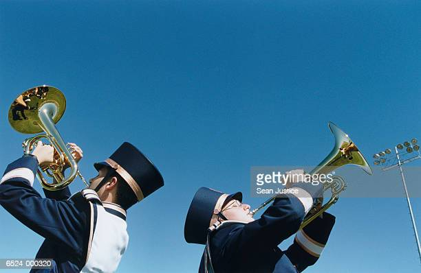 Horn Players in Marching Band