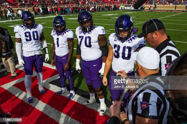 Horned Frogs captains including defensive tackle Ross Blacklock wide receiver Jalen Reagor left guard Cordell Iquagwu and linebacker Garrett Wallow...