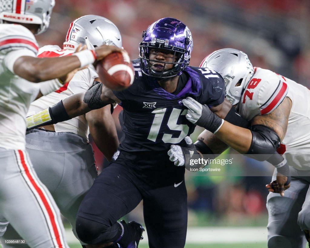 COLLEGE FOOTBALL: SEP 15 AdvoCare Showdown - Ohio State v TCU : News Photo