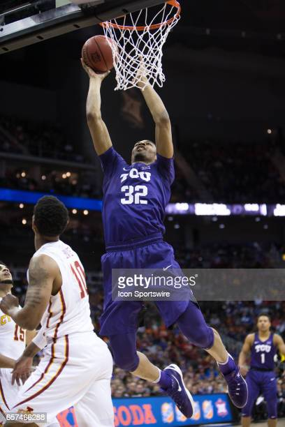 Horned Frogs forward Karviar Shepherd during the Big 12 Tournament semifinal game between the TCU Horned Frogs and the Iowa State Cyclones on March...