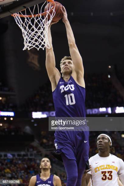 Horned Frogs forward Vladimir Brodziansky during the Big 12 Tournament semifinal game between the TCU Horned Frogs and the Iowa State Cyclones on...