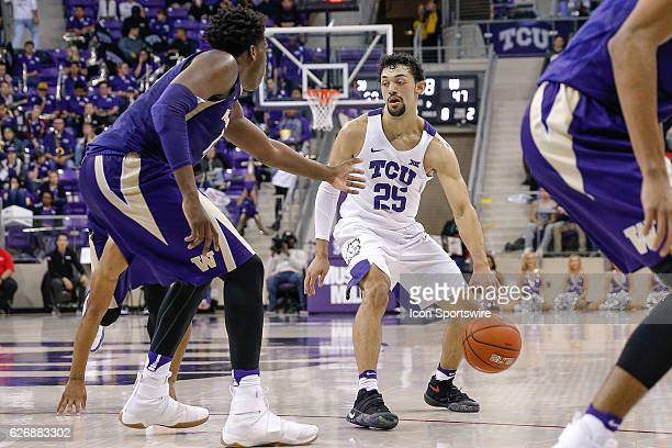 Horned Frogs guard Alex Robinson during the NCAA Basketball game between the Washington Huskies and TCU Horned Frogs on November 30 at Ed & Rae...