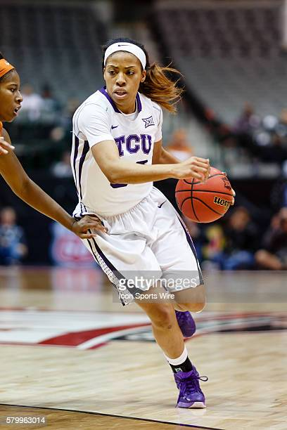 Horned Frogs guard Donielle Breaux during the NCAA Big 12 Women's basketball tournament game between the TCU Horned Frogs and the Texas Longhorns at...