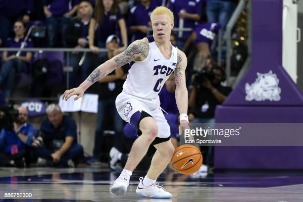 Horned Frogs guard Jaylen Fisher handles the ball during the game between the SMU Mustangs and TCU Horned Frogs on December 5 2017 at Ed Rae...