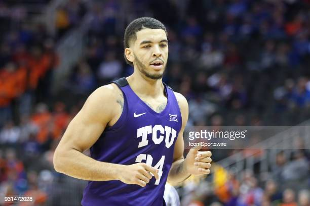 Horned Frogs guard Kenrich Williams in the second half of a quarterfinal game in the Big 12 Basketball Championship between the TCU Horned Frogs and...