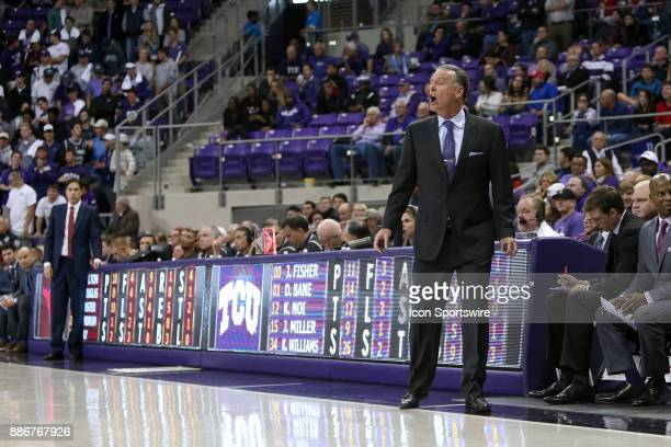 Horned Frogs head coach Jamie Dixon during the game between the SMU Mustangs and TCU Horned Frogs on December 5 2017 at Ed Rae Schollmaier Arena in...