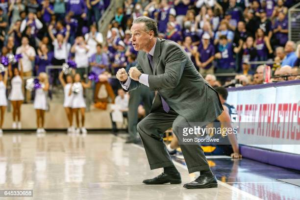 Horned Frogs head coach Jamie Dixon reacts during the basketball game between the West Virginia Mountaineers and TCU Horned Frogs on February 25 2017...