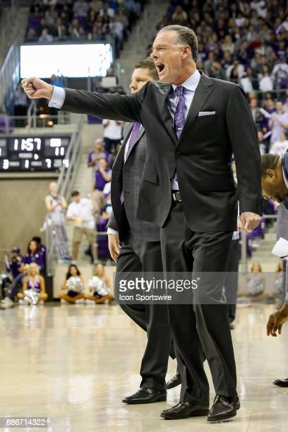 Horned Frogs head coach Jamie Dixon reacts during the game between the SMU Mustangs and TCU Horned Frogs on December 5 2017 at Ed Rae Schollmaier...