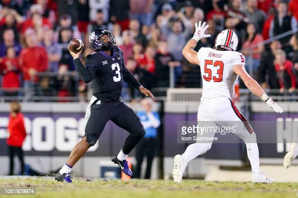 Horned Frogs quarterback Shawn Robinson scrambles on 4th down of their last possession during the game between the Texas Tech Red Raiders and TCU...