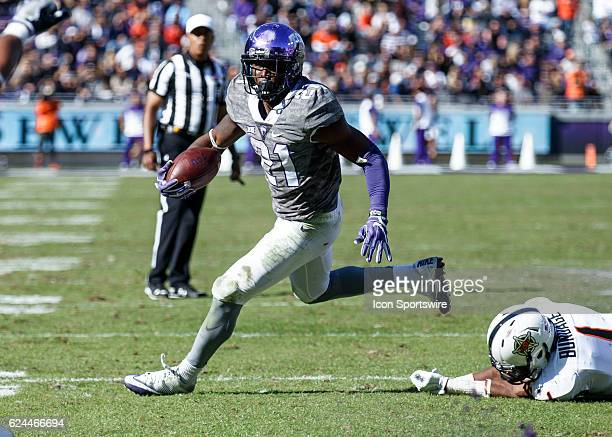 Horned Frogs tailback Kyle Hicks during the Big 12 college football game between the TCU Horned Frogs and the Oklahoma State Cowboys on November 19...