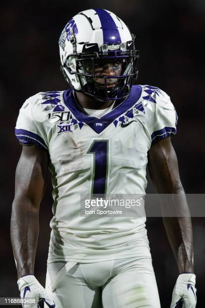 Horned Frogs wide receiver Jalen Reagor lines up before the snap during the college football game between the Purdue Boilermakers and TCU Horned...
