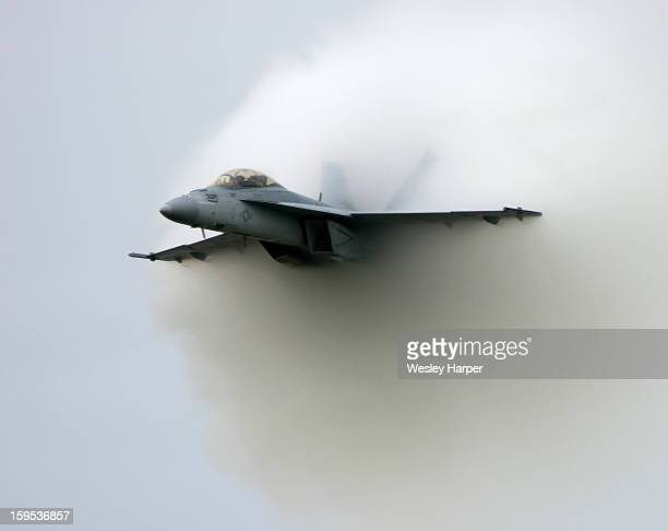 Hornet breaking the sound barrier demonstration.