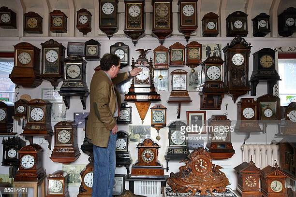 Horologist Roman Piekarski starts the time consuming task of adjusting the 600 antique clocks at Cuckooland Museum in readiness for this weekends...