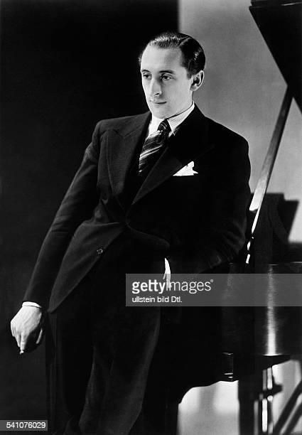 Horowitz, Vladimir *01.10..1989+Pianist, USA - Halbportrait- 1931- veroeffentlicht in der B.Z. Vom