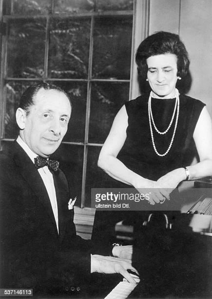 Horowitz, Vladimir , Pianist, USA , - mit seiner Ehefrau Wanda, geborene Toscanini, - 1962