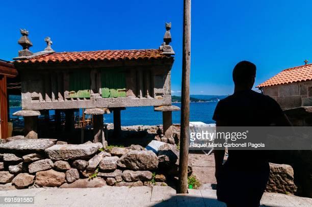 Horreos traditional stone granaries
