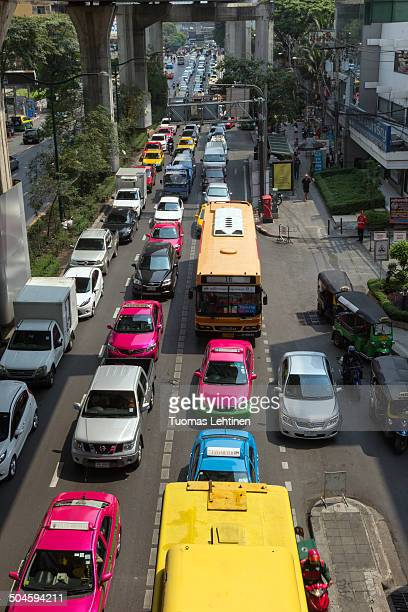 CONTENT] Horrific rush hour traffic jam at the Phaya Thai Road in Ratchathewi District in downtown Bangkok Traffic jams are an everyday sight and...