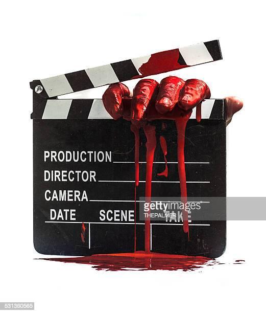 Horror movie clapper board