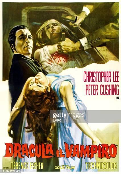 Horror Of Dracula poster Christopher Lee Valerie Gaunt Carol Marsh on Italian poster art 1958