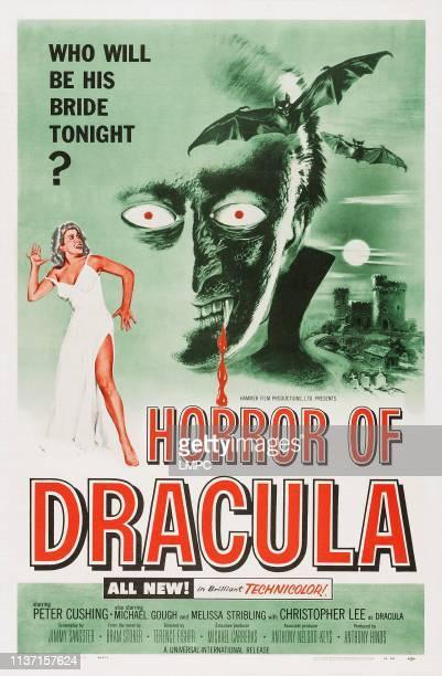 Horror Of Dracula poster US poster art from left Melissa Stribling Christopher Lee 1958
