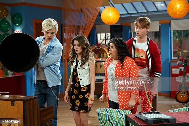 AUSTIN ALLY 'Horror Stories Halloween Scares' When a power outage leaves the four friends locked in Sonic Boom overnight on Halloween they pass the...