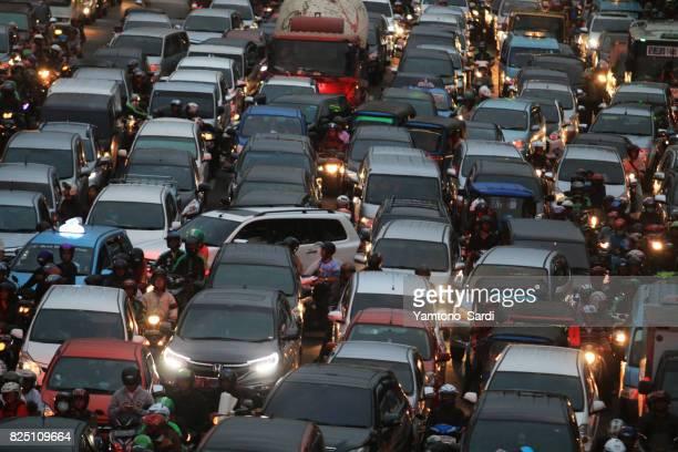 Horror traffic Jam in Jakarta
