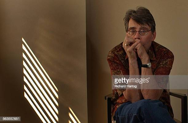 Horror writer Stephen King at the W Hotel, Wednesday morning, March 19, 2003 in Westwood, Calif. King is in town for the premiere of the latest movie...