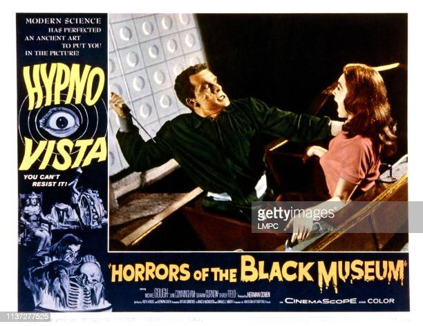 Horrors Of The Black Museum lobbycard from left Graham Curnow Shirley Anne Field 1959