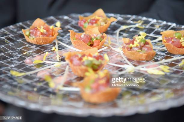 Hors d'oeuvres on display at the 2018 Lotte New York Palace Invitational on August 23 2018 in New York City