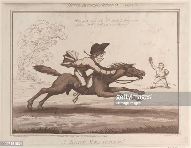 A Land Measurer August 1 1799 Artist Thomas Rowlandson