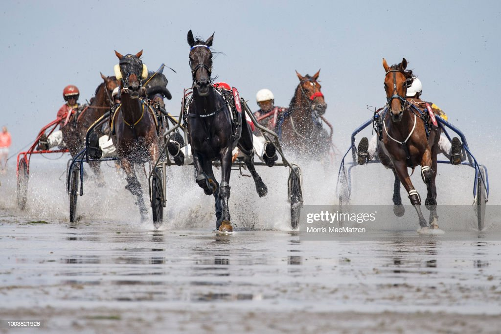 Annual Horse Buggy Races At Cuxhaven Mudflats