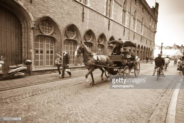 Horse and carriage in Bruges