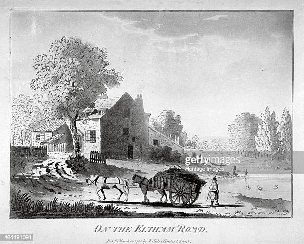 Horse and cart on the Eltham Road in Woolwich Kent 1788