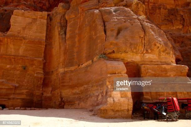 Horse and Cart transport for Siq in Jordan