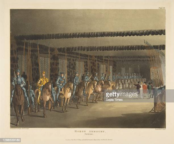 Horse Armoury, Tower of London , November 1 Hand-colored etching and aquatint, Sheet: 9 5/8 x 11 9/16 in. , Prints, Designed and etched by Thomas...